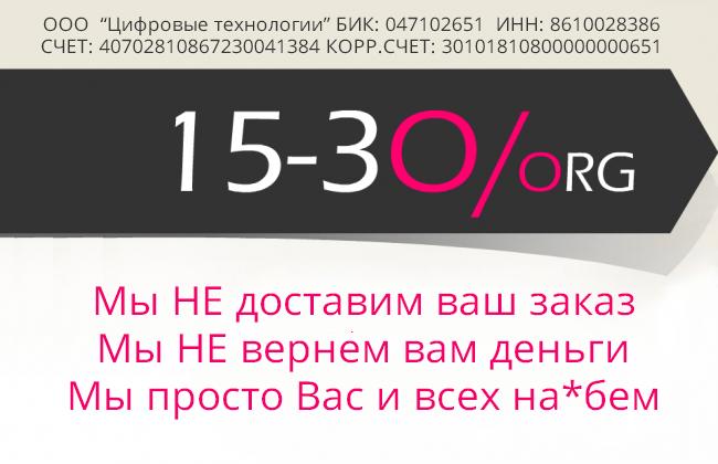 товарный чек 15-30.org